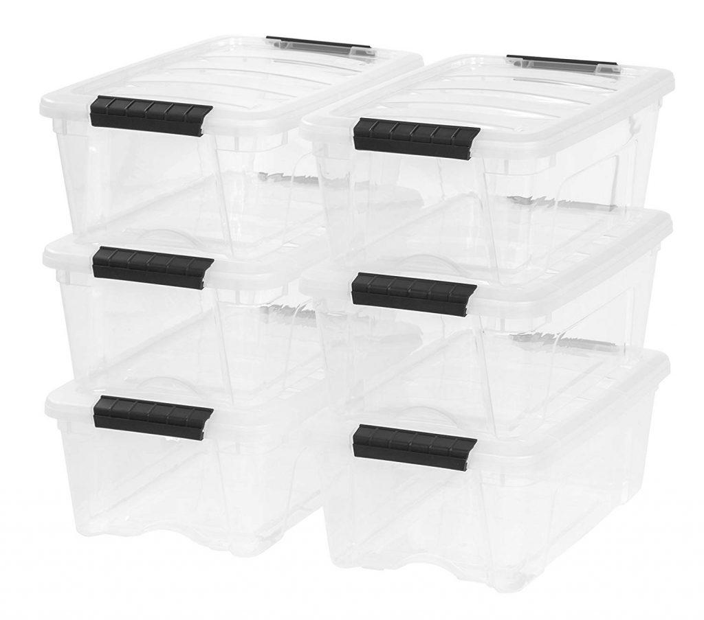 See-through storage bins
