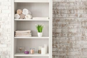 15 Space-Saving Bathroom Storage Tower Ideas