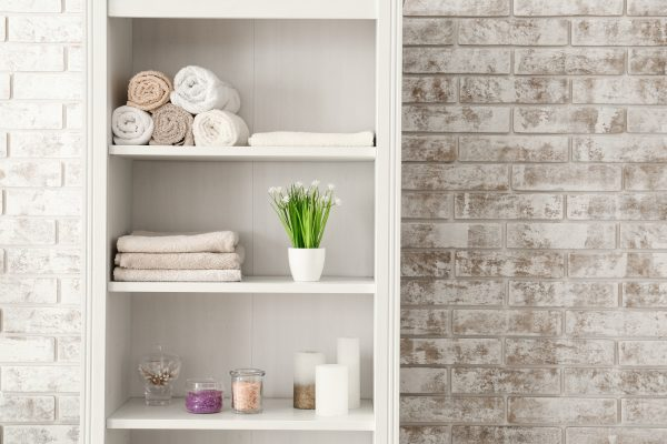 15 Space-Saving Bathroom Storage Tower Ideas