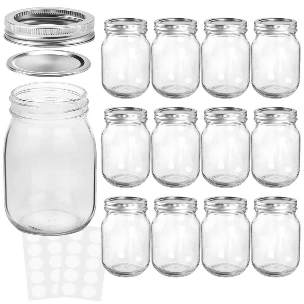 16oz Mason Jars with lids and bands