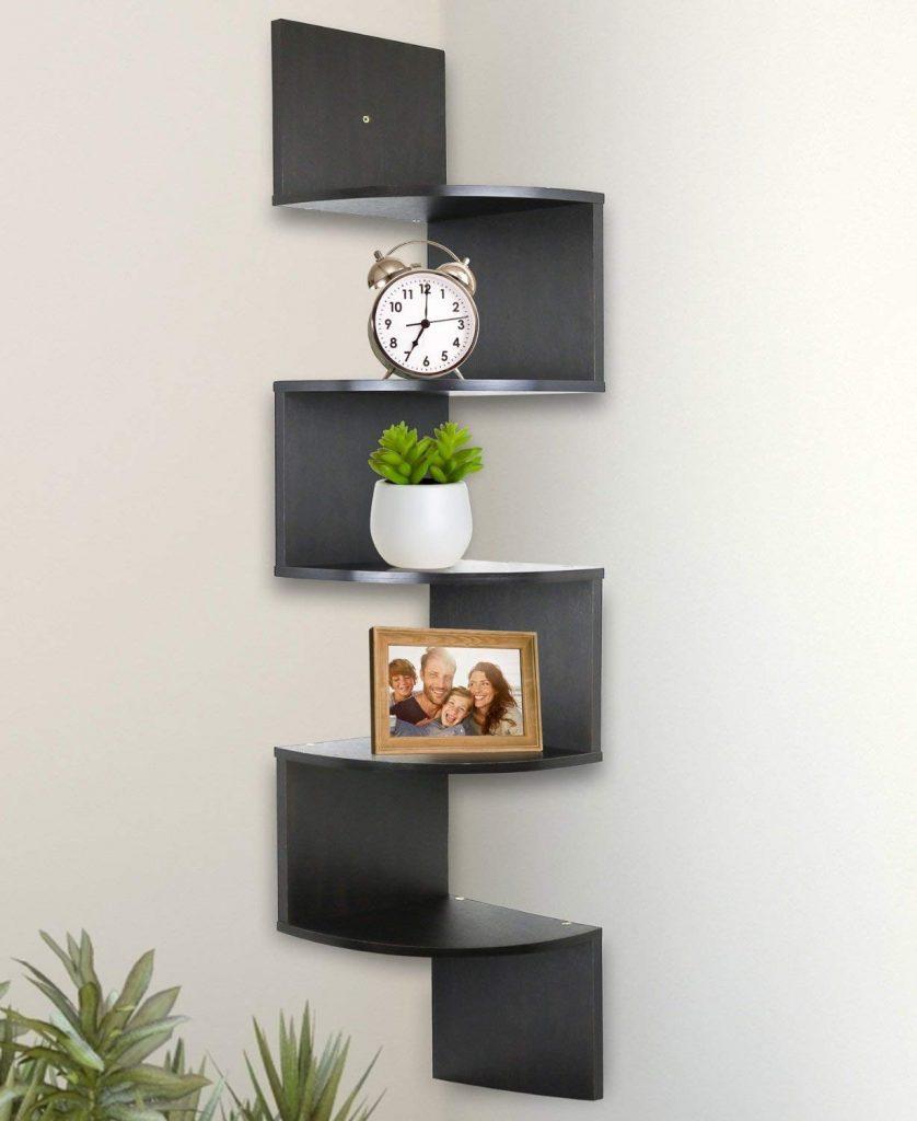 5 Tier Wall Mount Shelves, Living Room Storage Ideas, Storage Ideas, Living Room Organizer