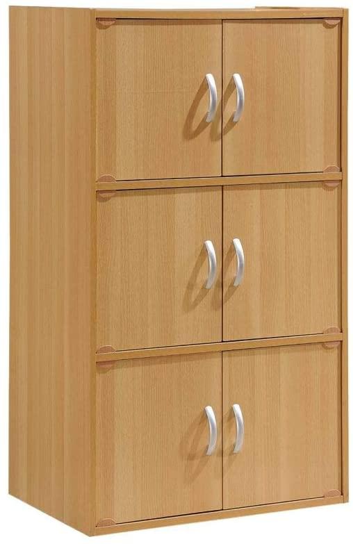 Hodedah 3-Shelf Bookcase Cabinet
