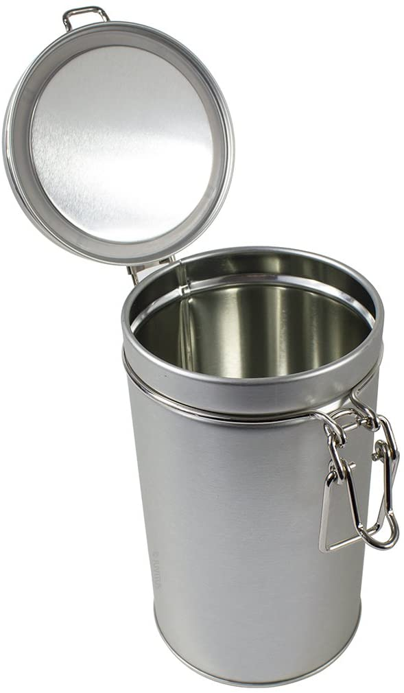 Stainless Steel Metal Tea Tin Canister with Tight Seal Latch