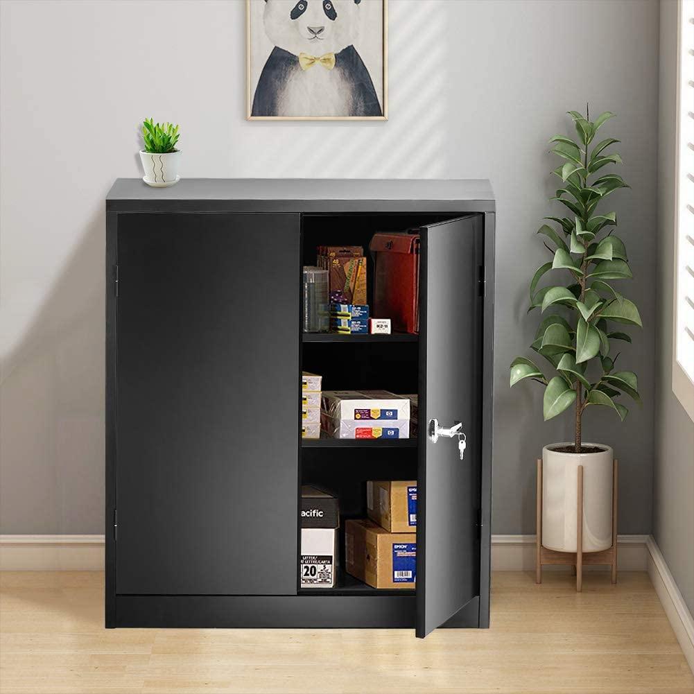 INVIE Black Steel SnapIt Storage Cabinet