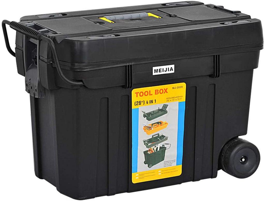 MEIJIA Portable Rolling Tool Storage Box