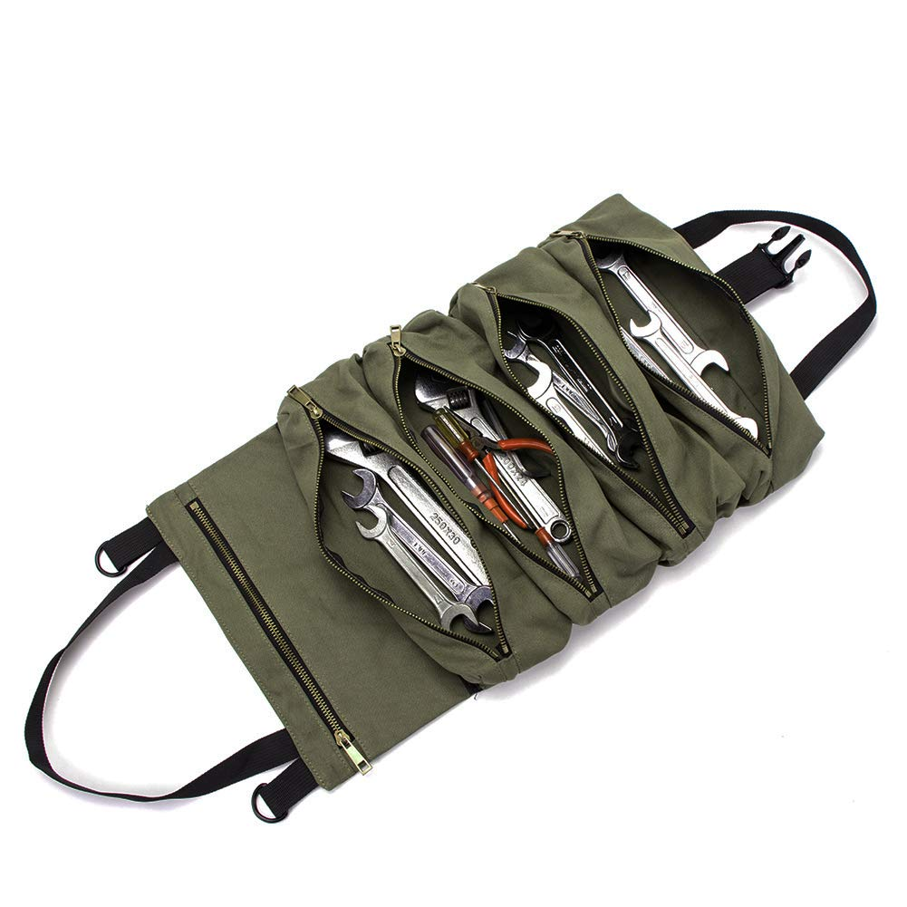 Super Roll Tool Roll,Multi-Purpose Tool Roll Up Bag