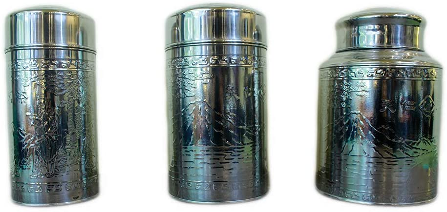 Tea Canister, Stainless Steel, Kitchen Storage
