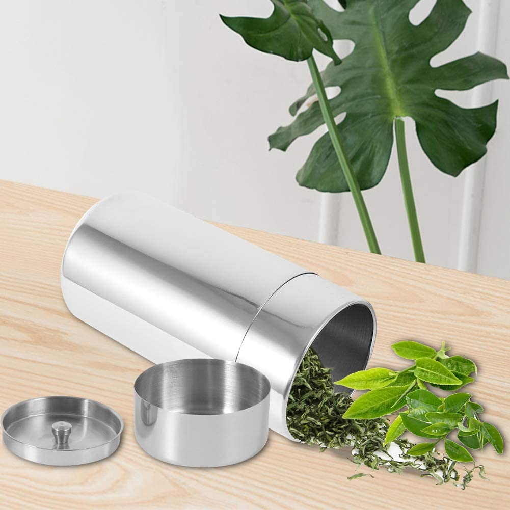 Tea Tins Stainless Steel Tea Coffee Sugar Storage Canister
