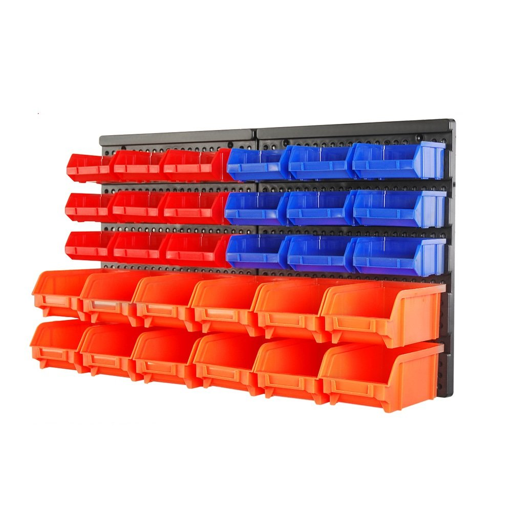 HORUSDY Wall Mounted Storage Bins