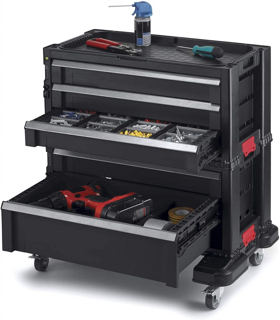 Keter Modular Locking and Rolling Tool Chest with Wheels