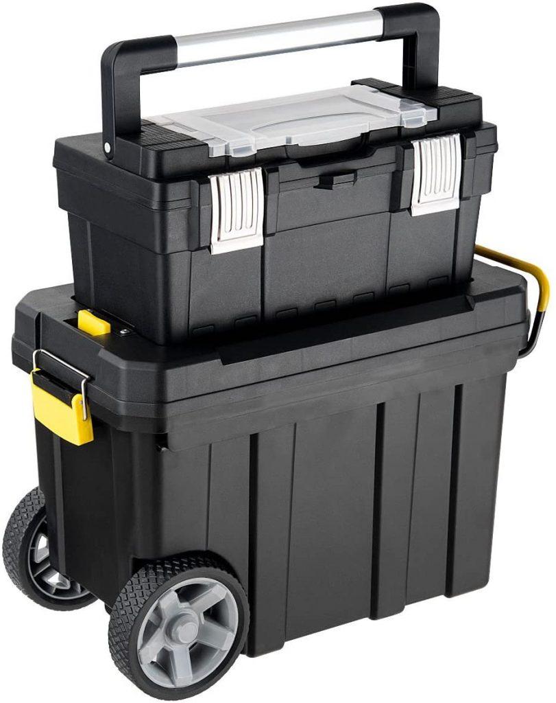 Goplus 2-in-1 Tool Box Portable Rolling Toolbox