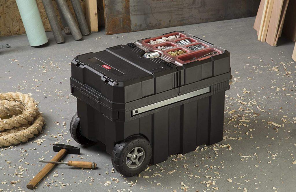 Keter Masterloader Resin Rolling Tool Box Organizer