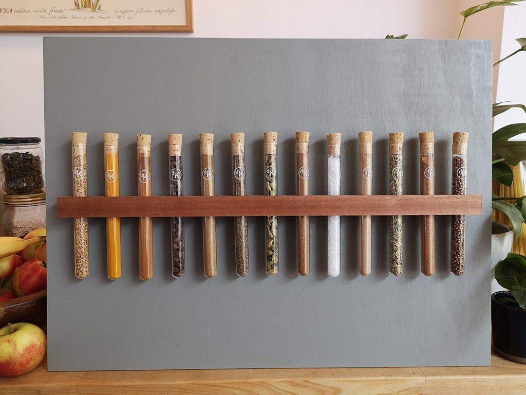 Test tube spice racks