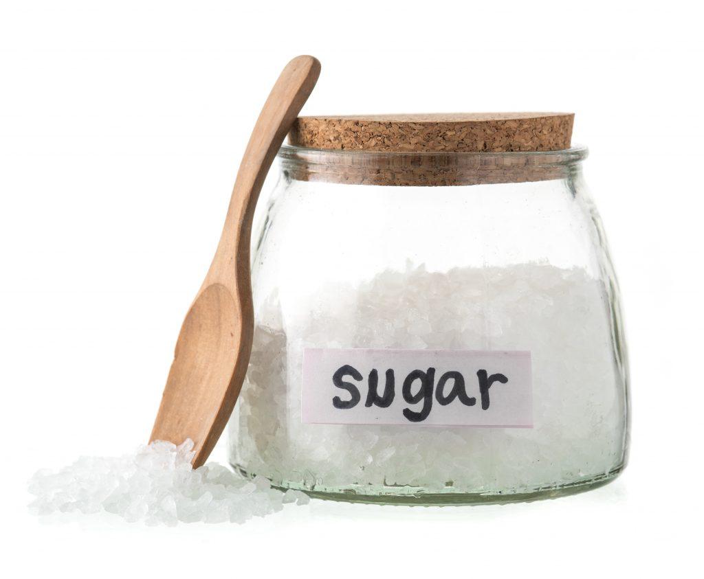 labeled sugar box