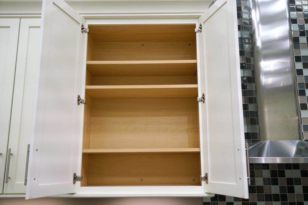 doors of storage cabinet