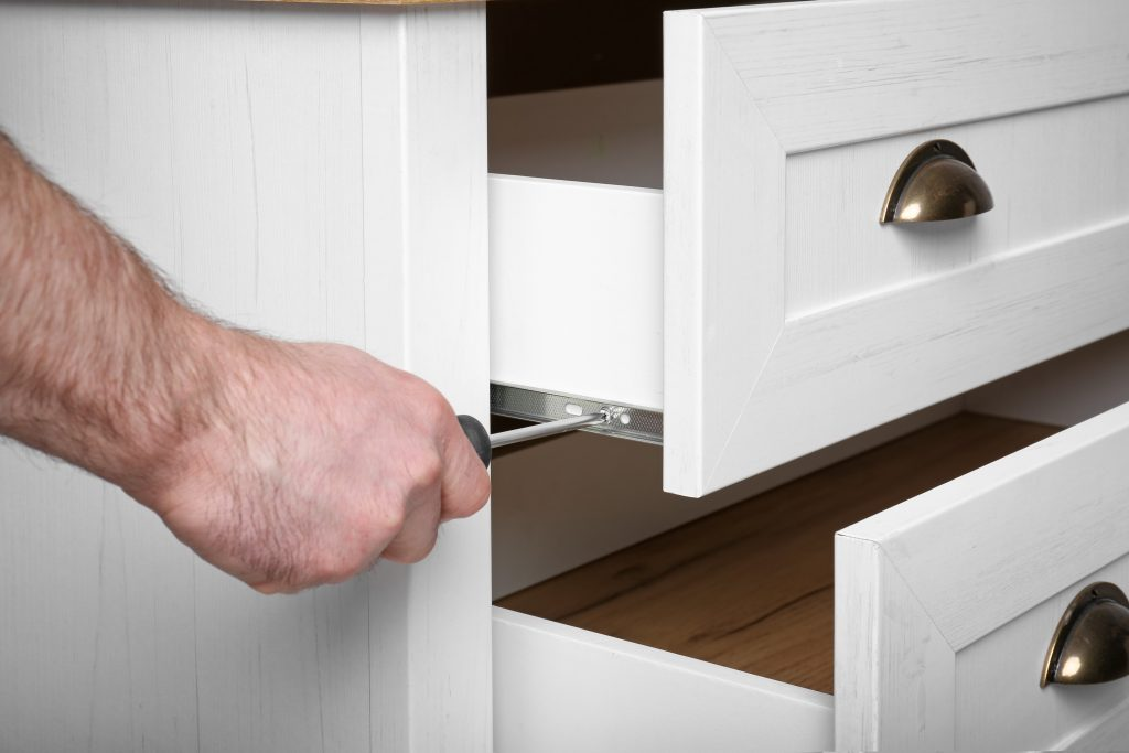 install storage cabinets