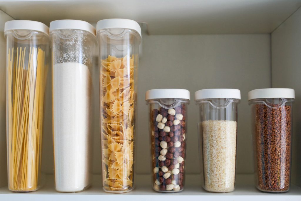 kitchen ingredients in containers