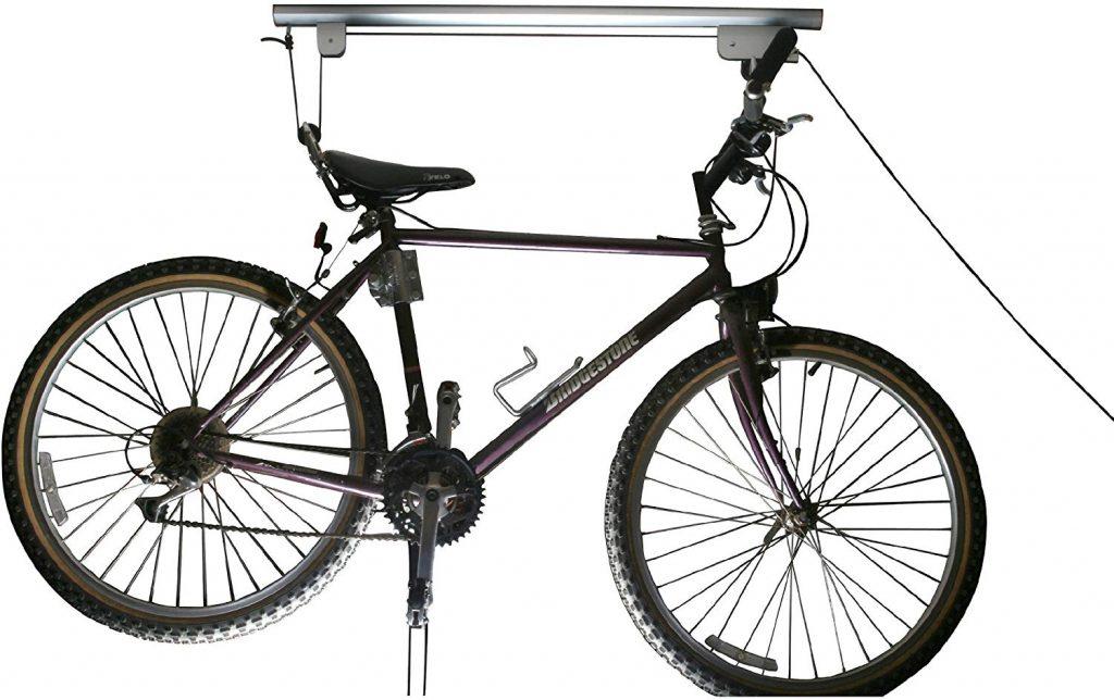 bicycle hoist, overhead storage, garage storage ideas, garage organizer