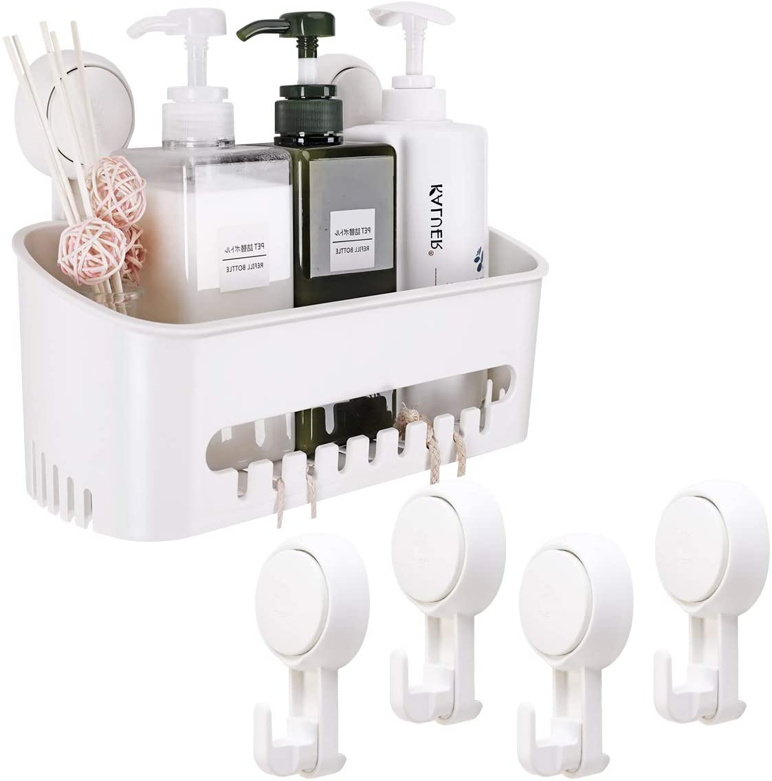 Drill-Free Vacuum Suction Cup Shower Caddy