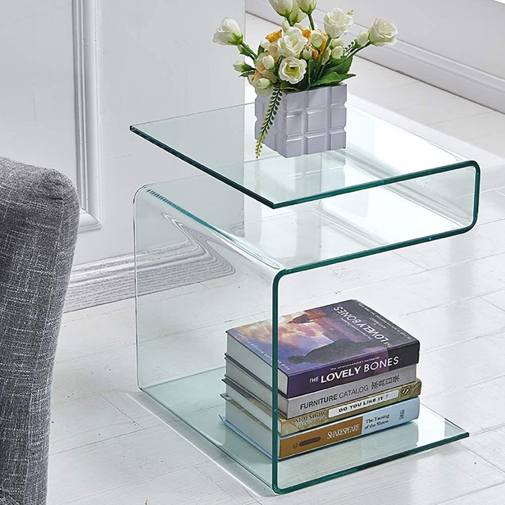 Glass Bedside Table by Fenghua Glass Home
