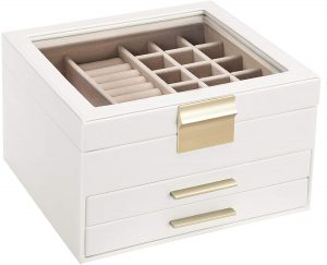 Jewelry Box with Glass Lid