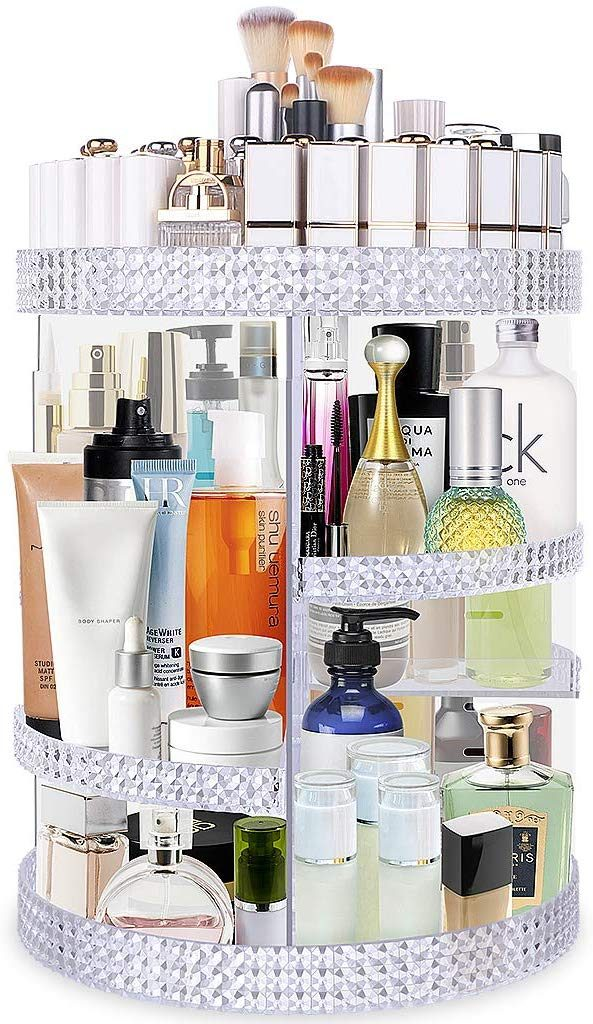 Rotating Perfume Holder, Perfume Shelf Holder, Bedroom Storage Ideas, Bedroom Storage, Bedroom Organizer