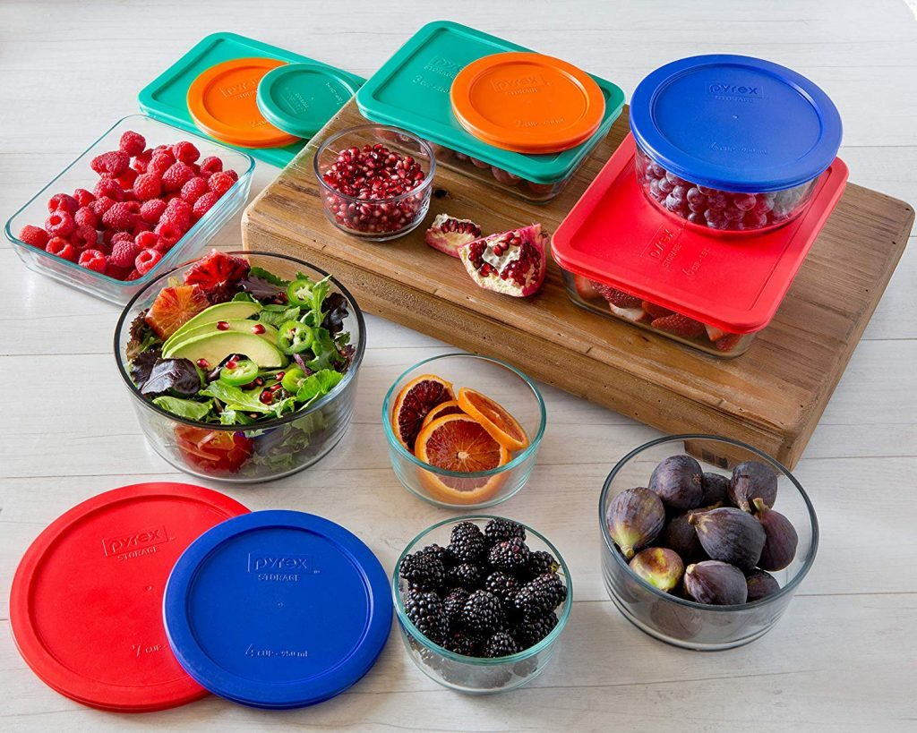 Simply Store Glass Rectangular and Round Food Container Set by Pyrex