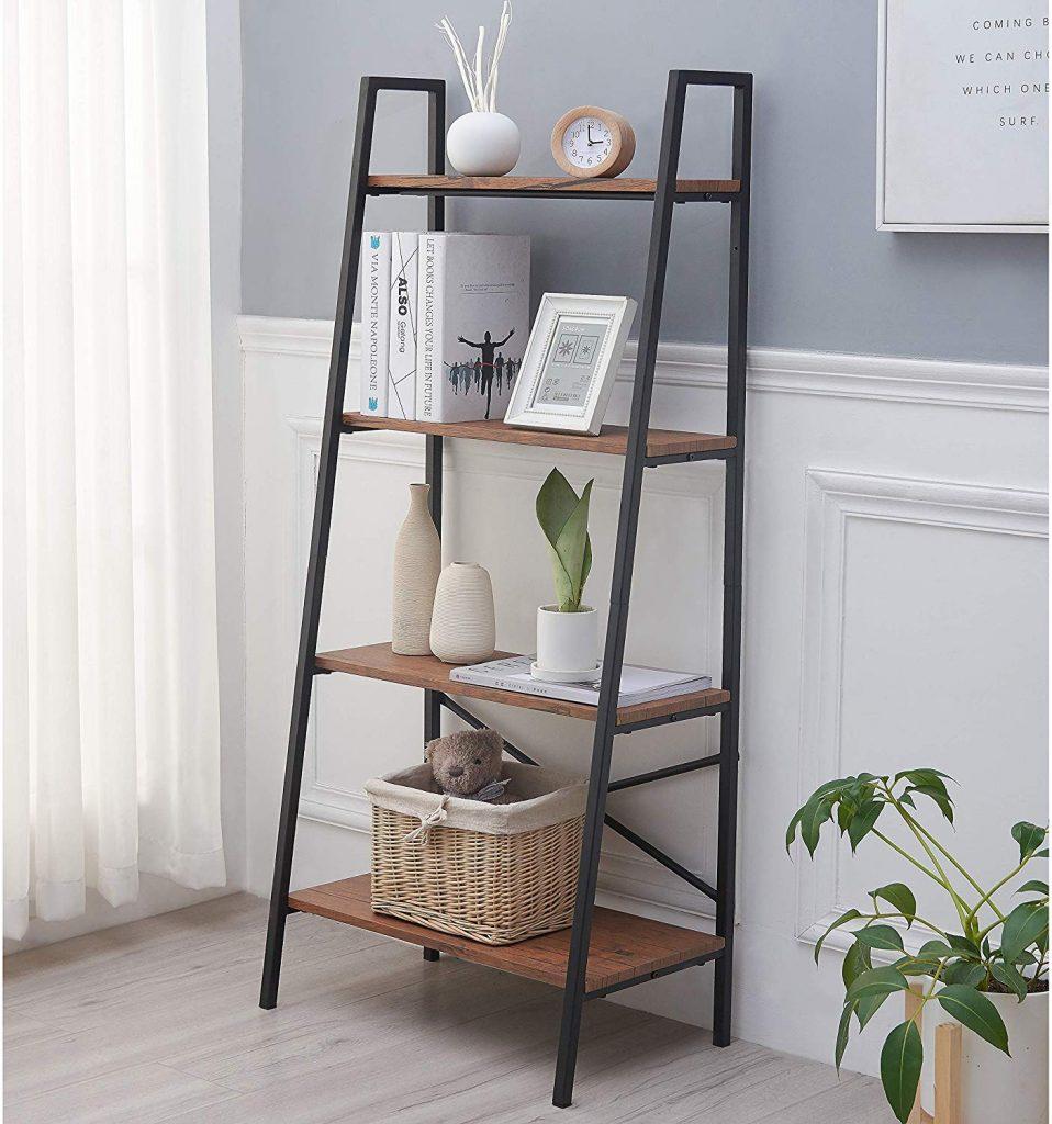 Bedroom Ladder Shelf, Ladder Shelf, Bedroom Organizer, Bedroom Storage Ideas