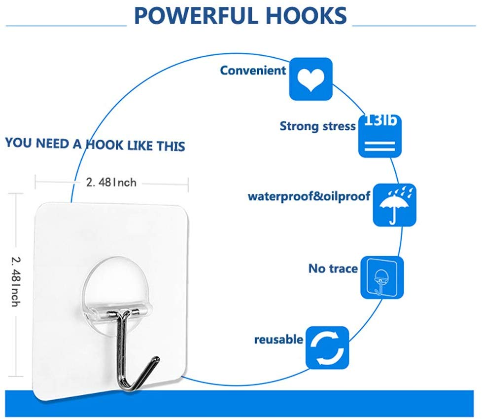 command hooks, kitchcen storage, waterproof