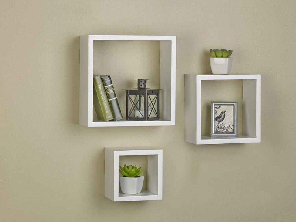 Cube Shelves, Floating Mounted Cube Shelves