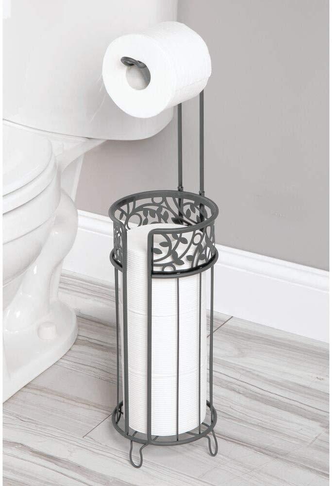 mDesign Free Standing Toilet Paper Storage, Bathroom Organizer, Bathroom Storage Ideas