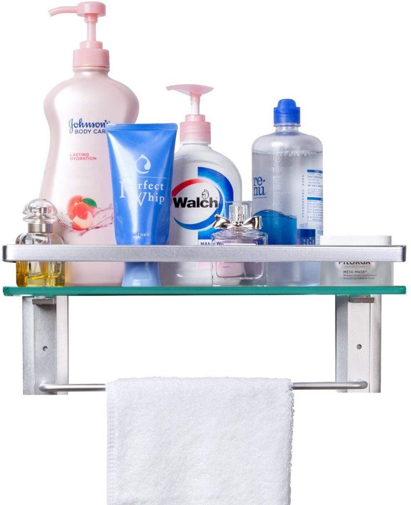 Glass Shelf, Bathroom Storage Ideas, Bathroom Storage