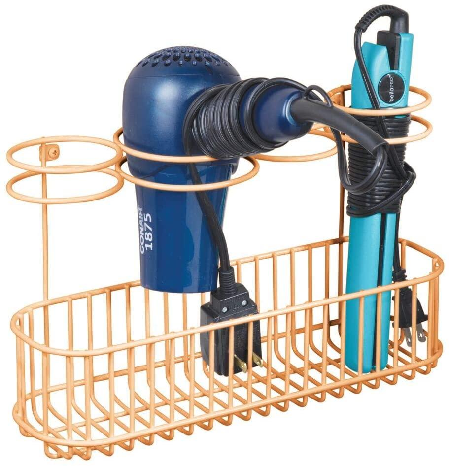 Hair Tool Organizer, Hair Tool Basket, Bathroom Storage Ideas, Bathroom Storage