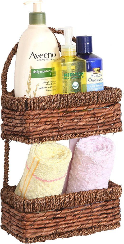 Storage Baskets, Two TIer Storage Baskets, Bathroom Storage, Bathroom Storage ideas