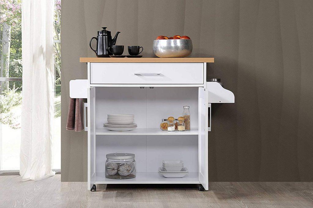 hodedah, kitchen island, kitchen organizer, kitchen storage ideas