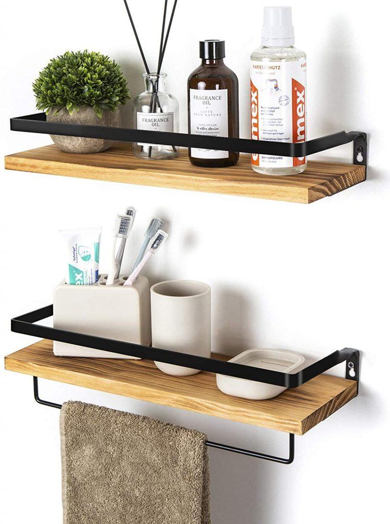 Inverted Bracket Shelves, Bathroom Storage Ideas, Bathroom Storage