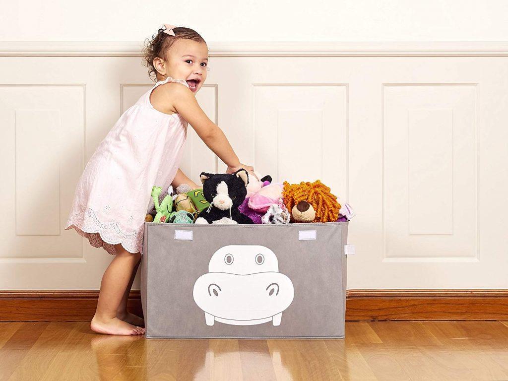 Kata Bird Collapsible Toy Box, Toy Storage Ideas, Toy Organizer