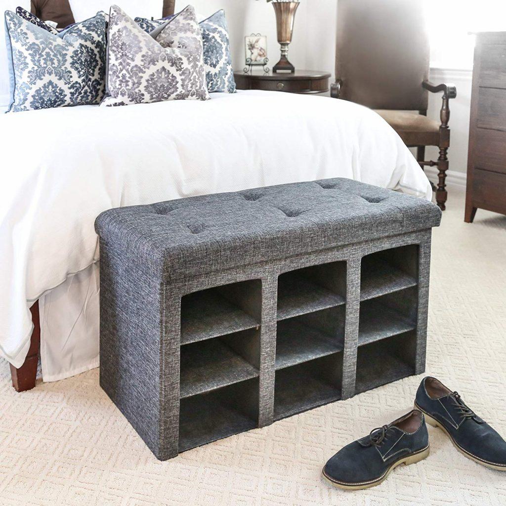 Bedroom Shoe Rack, Bedroom Storage Ideas, Bedroom Organizer