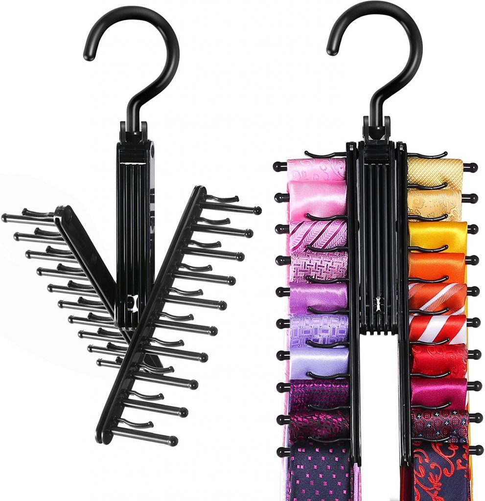 Tie Rack, Bedroom Organizer, Bedroom Storage Ideas