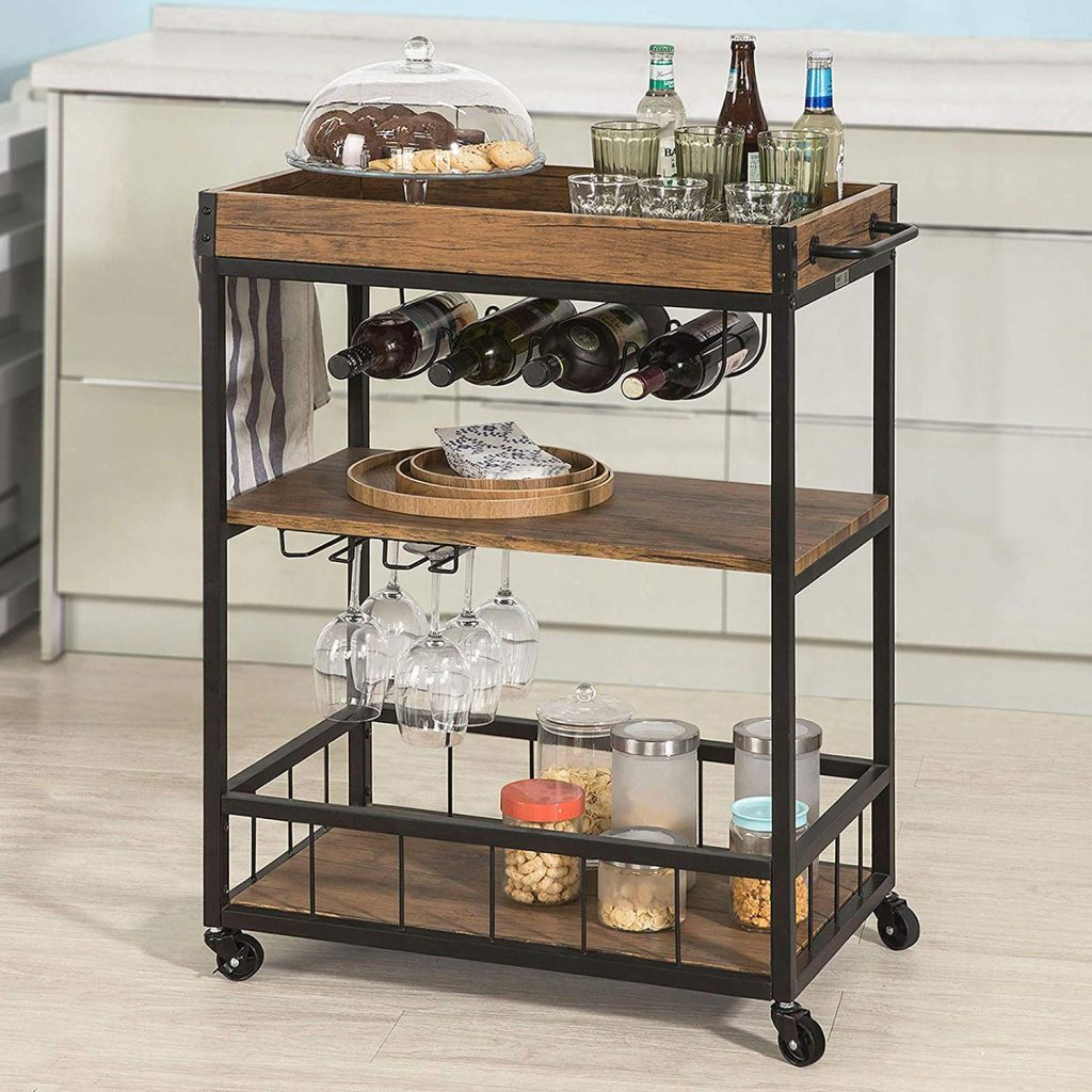 Wine Cart, Living Room Storage, Living Room Organizer