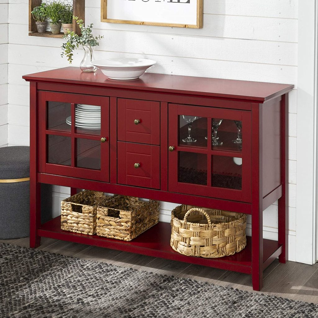 Walker Edison Furniture  Rustic Farmhouse Storage Cabinet