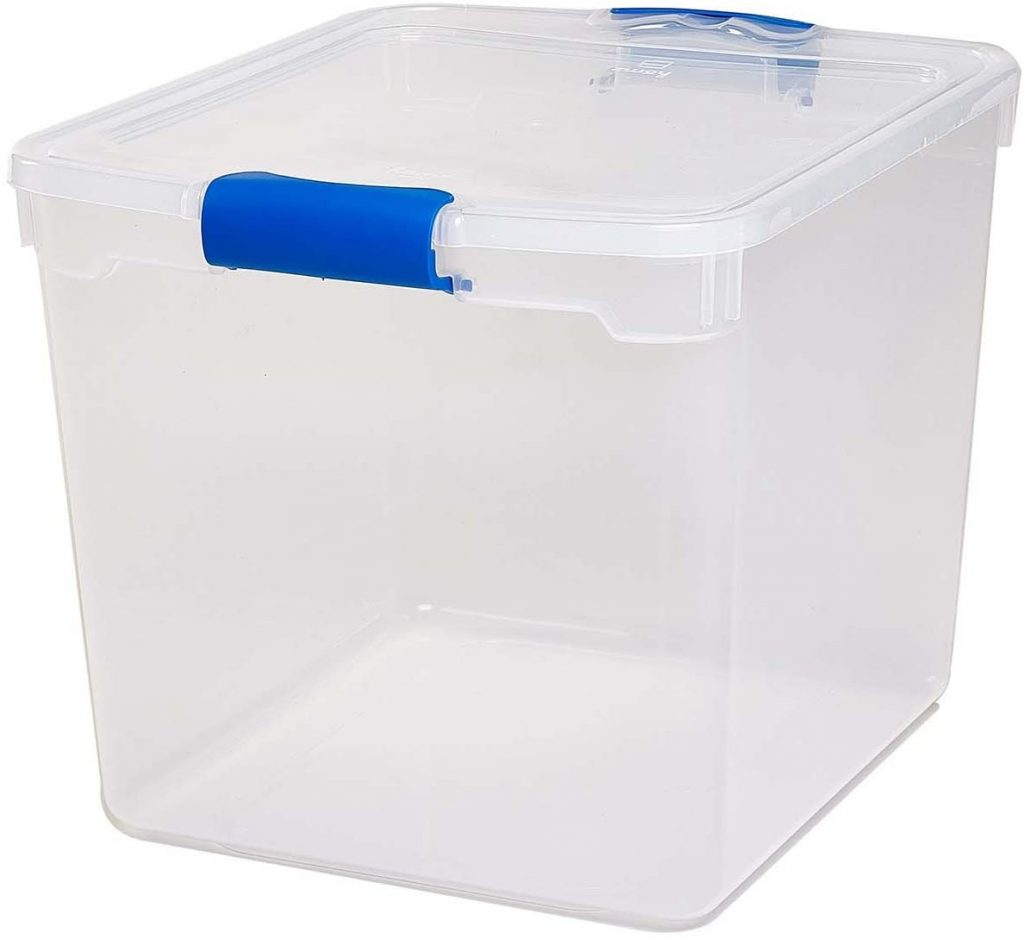 Homz Plastic Storage, Modular Stackable Storage Bins