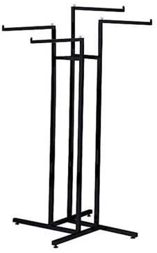 SSWBasics 4 Way Clothing Display Rack with Straight Arms