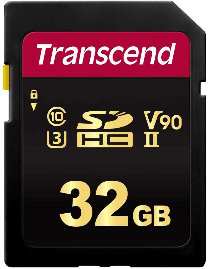 Transcend 32 GB Uhs-II Class 3 V90 SDHC Flash Memory Card