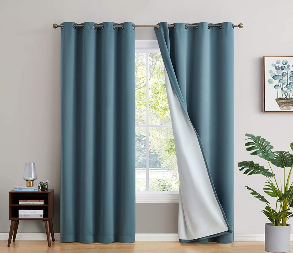 Floor length curtains