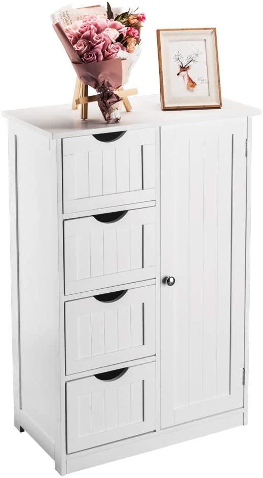 Bonnlo Small Bathroom Floor Cabinet