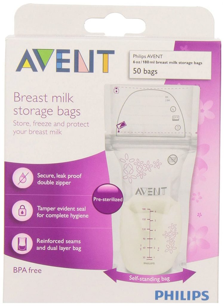 6. Philips Avent Breast Milk Storage Bags