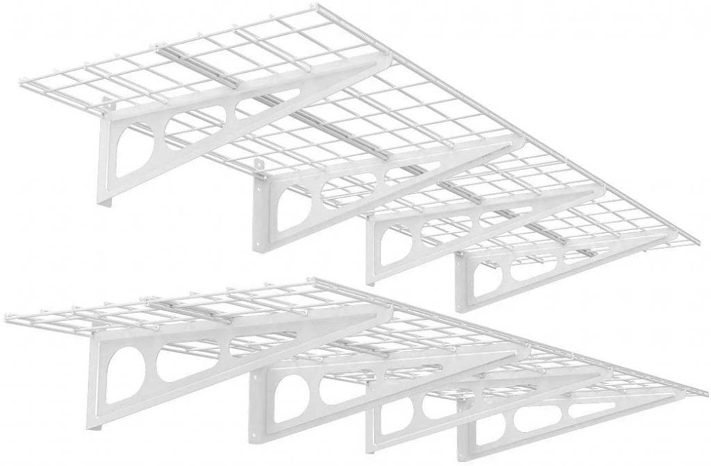 FLEXIMOUNTS 2-Pack 2x6ft 24-inch-by-72-inch Wall Shelf Garage Storage Rack Floating Shelves,