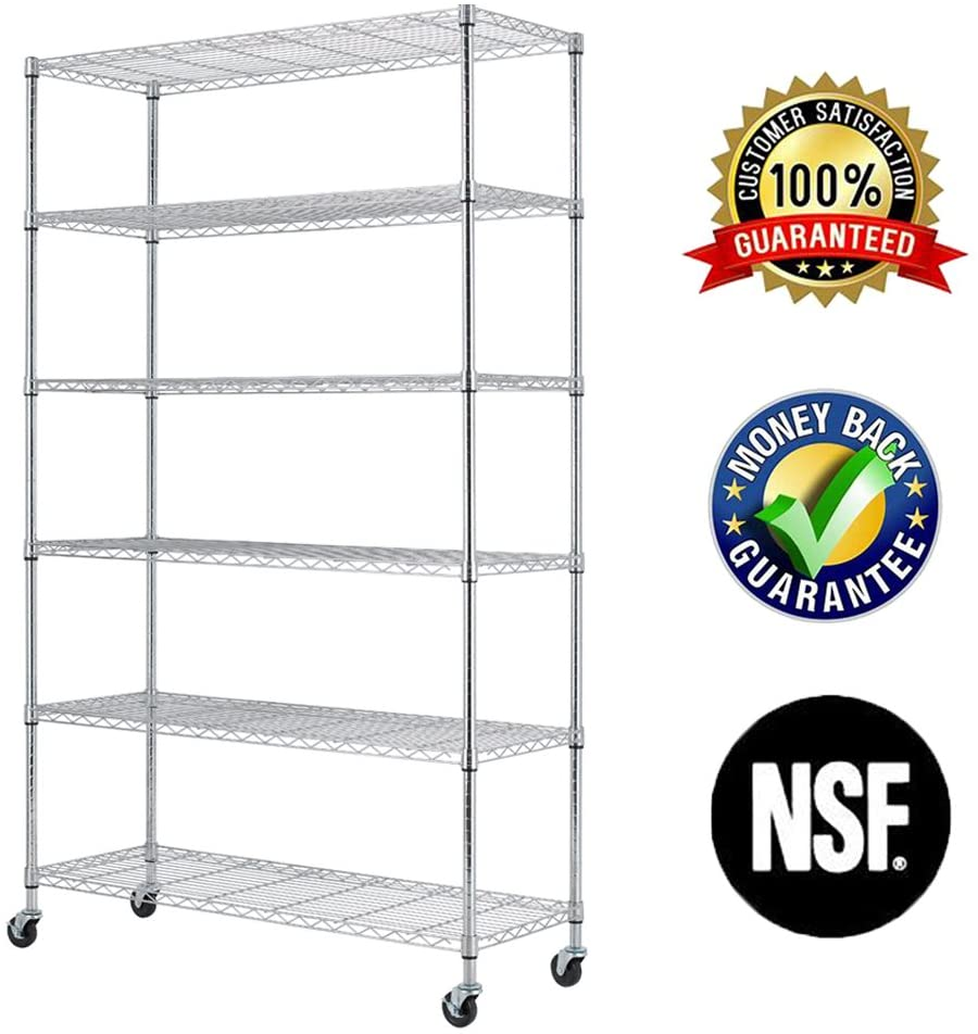 6 Tier Wire Shelving Rack