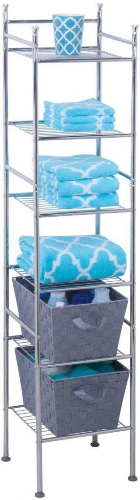 Honey-Can-Do 6 Tier Metal Bathroom Shelf